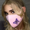 Pink Fashion Casual Print Face Protection