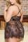 Black Sexy Party Living Spaghetti Strap Sleeveless Spaghetti Strap Solid Mini Dress Plus Size