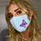 Light Blue Fashion Casual Print Face Protection
