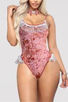 Pink Fashion Sexy Halter Print Swimwears