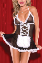 Black Fashion Sexy Party Living Spaghetti Strap Sleeveless Spaghetti Strap Mini Dress Mini Patchwork Dresses