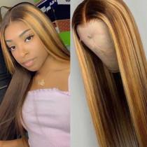 Gold Fashion Casual Straight Hair Wigs