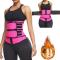 Rose Red Fashion Casual Sportswear Zipper Design Bustiers