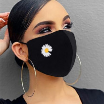Black Fashion Casual Print Face Protection