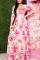 Pink Fashion Regular Sleeve Half Sleeve V Neck Printed Dress Floor Length Print Dresses