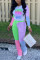 Green Fashion Casual Long Sleeve O Neck Regular Sleeve Regular Print Two Pieces