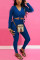 Green Fashion Casual Long Sleeve V Neck Regular Sleeve Short Solid Two Pieces