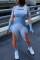 Orange Casual Sportswear O Neck Long Sleeve Regular Sleeve Skinny Patchwork Jumpsuits