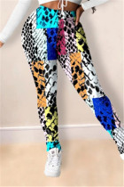 Colorful Fashion Casual Regular Print Trousers