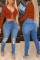 Orange Fashion Sexy V Neck Long Sleeve Regular Sleeve Short Solid Tops