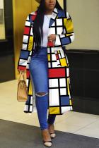 Yellow Street Print Outerwear