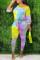 Multi Fashion Casual Long Sleeve O Neck Regular Sleeve Regular Print Tie Dye Two Pieces