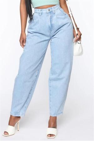 Light Blue Fashion Casual Regular Solid High Waist Jeans