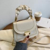 White Fashion Casual Patchwork Crossbody Bag