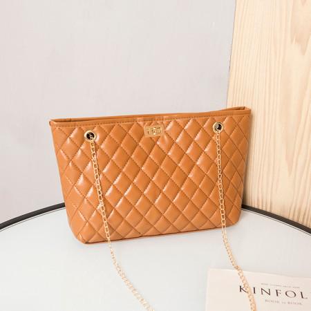 Orange Fashion Casual Chain Strap Crossbody Bag