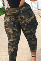 Camouflage Polyester Fashion adult England Ma'am Print Camouflage Plus Size