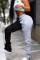 Grey Drawstring Sleeveless High bandage Solid Patchwork Loose Pants