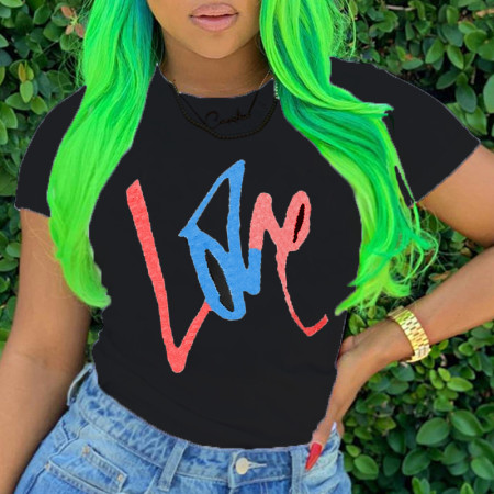Colorful Fashion Casual Printed Short Sleeve T-shirt