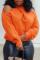 Orange Casual Cross-over Design Sweater