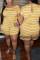 PurplishBlue Fashion Casual Striped Plus Size Short Sleeve Romper