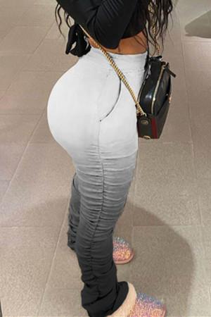 GradientBlack Fashion Casual Gradient Printed Trousers