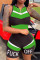 Green Sexy Fashion Stitching Sleeveless Sports Romper