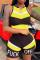 Yellow Sexy Fashion Stitching Sleeveless Sports Romper