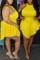 Yellow Sexy Fashion Sleeveless Plus Size Romper