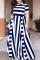 TibetanBlue Fashion Sexy Striped Plus Size Dress