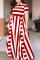 Red Fashion Sexy Striped Plus Size Dress