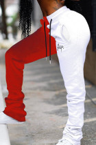 WhiteRed Fashion Casual Mid Waist Trousers