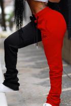 RedBlack Fashion Casual Mid Waist Trousers