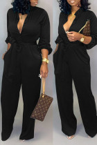 Black Fashion Sexy Print Tooling Jumpsuit