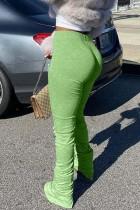 Green Fashion Casual Skinny Track Pants