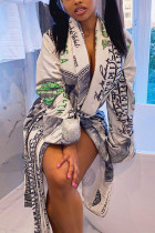 White Fashion Casual Basic Outerwear