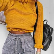 Yellow Chic Flounce Design Base Layers