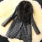 Black Casual Long Sleeve Faux Fur Coat