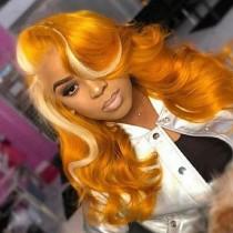 Orange Fashion Solid Long Curly Hair Wigs