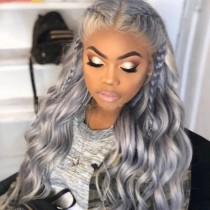 Silver Fashion Solid Hign-temperature Resistance Wigs
