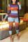 Orange Elegant Print O Neck Regular Jumpsuits
