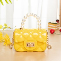 Yellow Fashion Patchwork Solid Chain Strap Crossbody Bag