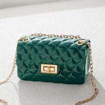 Green Fashion Diamond Shoulder Messenger Bag