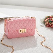 Pink Fashion Diamond Shoulder Messenger Bag