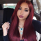 Wine Red Fashion Casual Long Straight Wigs