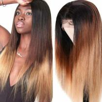Brown Fashion Casual Straight Hair Wigs