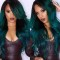 Green Fashion Long Bangs Curly Wigs
