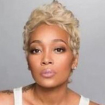 Gold Fashion Trendy Short Curly Wigs