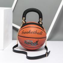 Brown Fashion Creative Basketball Single Shoulder Bags