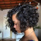 Black Fashion Personality Short Curly Wigs