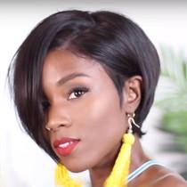 Black Fashion Personality Short Wig